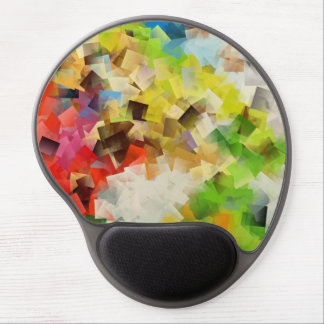 Flying Squares abstract design Gel Mouse Pad