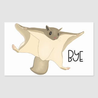 Flying Squirrel Says Bye sticker