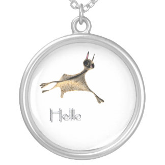 Flying Squirrel Silver Plated Necklace
