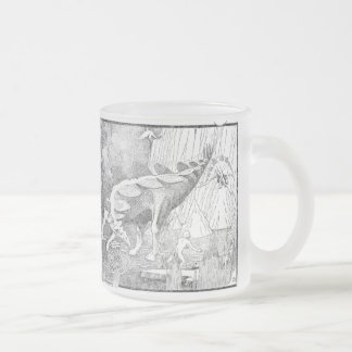 Flying Stegoasaurs Frosted Glass Coffee Mug
