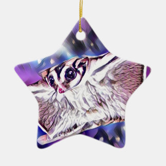 Flying Sugar Glider Ceramic Ornament