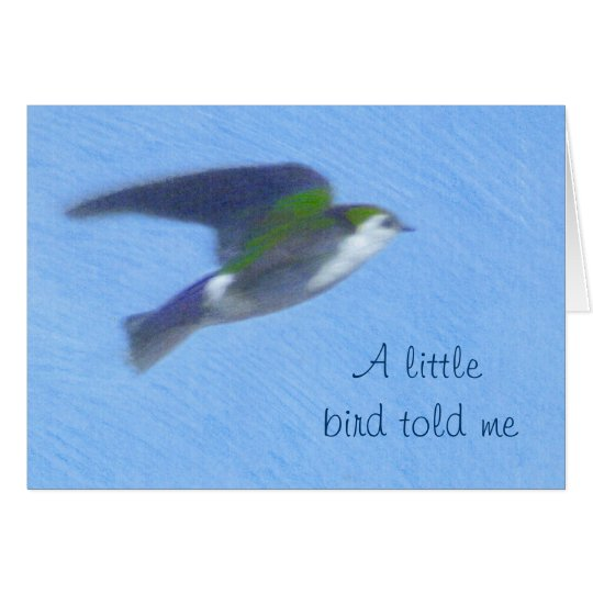 Flying Swallow Fine Art Greeting Card