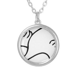 Flying Swan Silver Plated Necklace