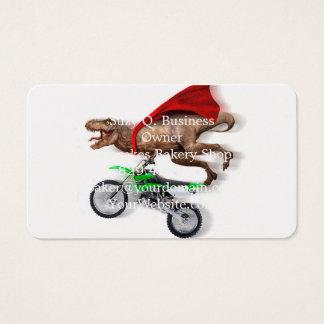 Flying t rex  - t rex motorcycle - t rex ride business card