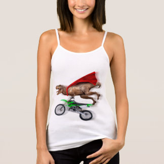 Flying t rex  - t rex motorcycle - t rex ride tank top