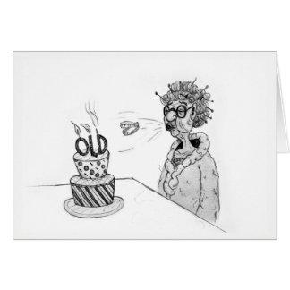 Flying Teeth Birthday Card