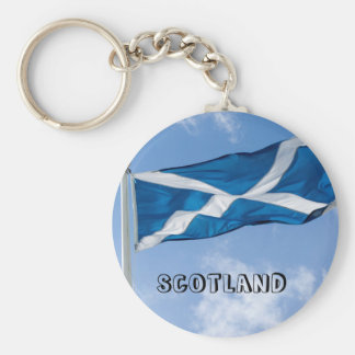 Flying the flag for Scotland Keychain