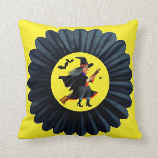 Flying Through the Moonlight Throw Pillow