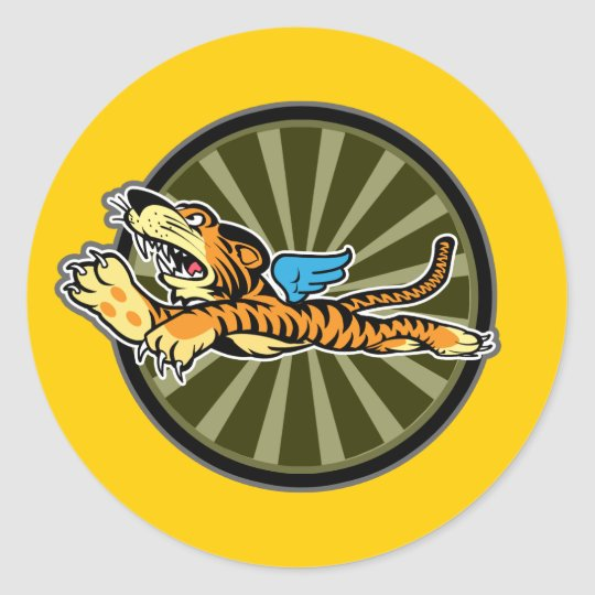 Flying Tiger Sticker