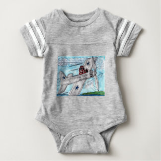 Flying Tigers Airlines Baby Bodysuit