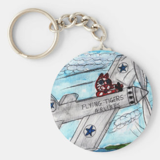 Flying Tigers Airlines Keychain