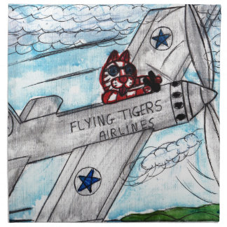 Flying Tigers Airlines Napkin