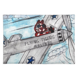 Flying Tigers Airlines Placemat