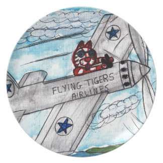 Flying Tigers Airlines Plate