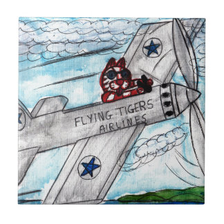 Flying Tigers Airlines Tiles