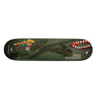 Flying Tigers P-40 Custom Skateboard