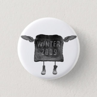 flying toast 1 inch round button