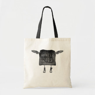 flying toast tote bag