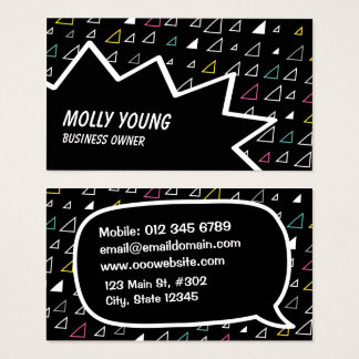 flying triangles business card