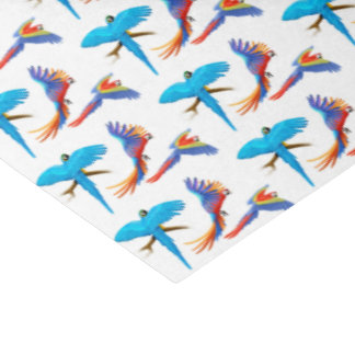 Flying Tropical Macaw Parrots Tissue Paper