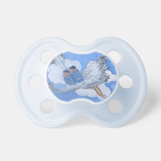Flying Twin Boy Babies Pacifier