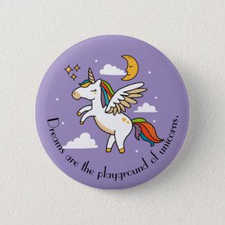 Flying Unicorn 2 Inch Round Button