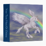 Flying Unicorn Rainbow Fantasy Horse 3 Ring Binder