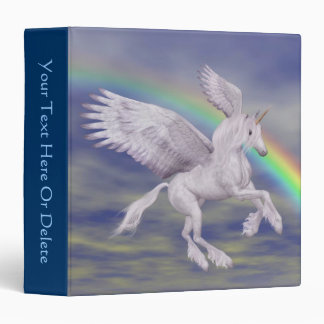 Flying Unicorn Rainbow Fantasy Horse 3 Ring Binder