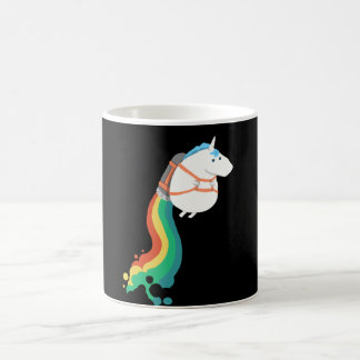 Flying Unicorn With A Rainbow Jet Pack Coffee Mug