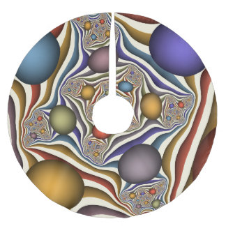 Flying Up, Colorful, Modern, Abstract Fractal Art Brushed Polyester Tree Skirt