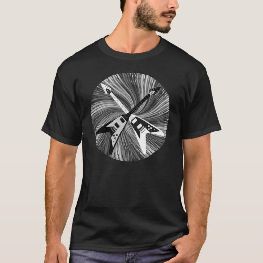 Flying V Black and White Guitar Shirt