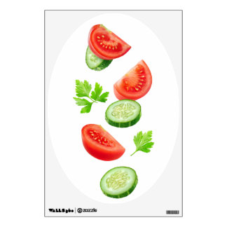 Flying vegetables wall sticker
