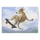 Flying whippet dog card