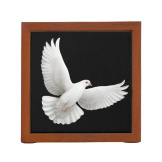Flying White Peace Dove Desk Organizer