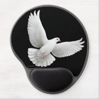 Flying White Peace Dove Gel Mousepad