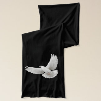 Flying White Peace Dove Scarf