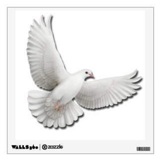 Flying White Turtle Dove Wall Decal
