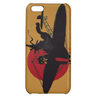 Flying Witch Black Cat Airplane Full Moon iPhone 5C Cover