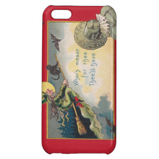 Flying Witch Black Cat Bat Full Moon iPhone 5C Case