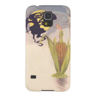 Flying Witch Full Moon Corn Cob Candle Case For Galaxy S5
