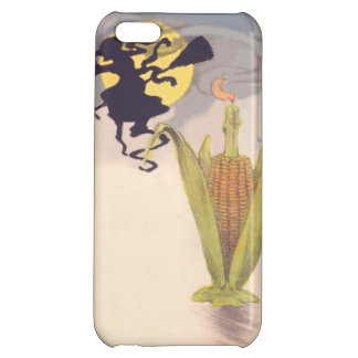 Flying Witch Full Moon Corn Cob Candle iPhone 5C Cover