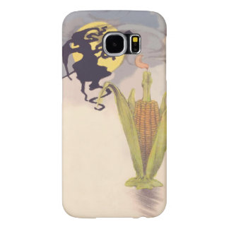 Flying Witch Full Moon Corn Cob Candle Samsung Galaxy S6 Cases