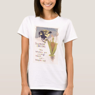 Flying Witch Full Moon Corn Cob Candle T-Shirt