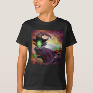 Flying Witch Halloween T Shirt