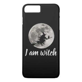 Flying witch with a bright moon behind her Case-Mate iPhone case