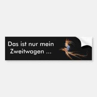 """""""Flying Witch"""" - Zweitwagen Bumper Sticker"""