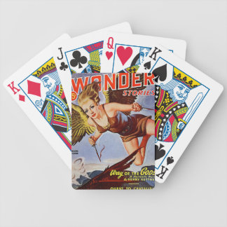 Flying Woman Bicycle Playing Cards