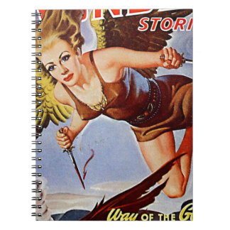 Flying Woman Spiral Note Book
