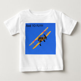 Flying Yellow Airplane Infant Short Sleeve Shirt