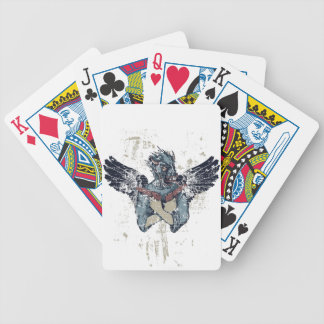 flying zombie with wings bicycle playing cards